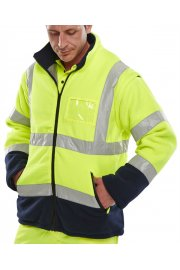 BD231 Hi-Visibility Two Tone Fleece (Detachable Sleeves) (Medium To 4XL)