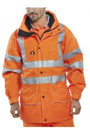 CARO Click B Seen Carnoustie Breathable Traffic  Jacket (Small To 5XL)
