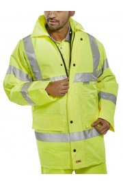 TJ8 Light Weight Unlined Hi Visibility Jacket (Small To 6XL)