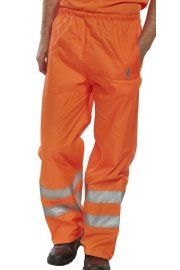 BIT Click Hi Visibility  B-Dri Birkdale Breathable Overtrousers (Small To 3XL)