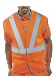 RSV02 Hi Vis Vests Anti Tangle Rail Spec (Medium To 5XL)