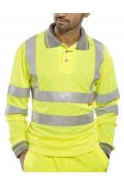 BPKSLSEN Hi Visibility B Seen Long Sleeved Polo Shirt (Medium To 6XL)