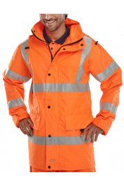 JJ Jubilee Breathable Jacket (Rail Spec In Orange) (Small To 4XL)