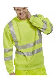 BSSEN Click Hi-Visibility Sweatshirt (Small To 6XL)