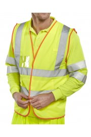 BS061 Executive Hi Vis Vests Velcro (Small To 2XL)