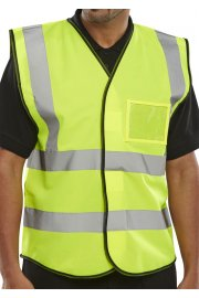 BD108 Id Pouch Hi Vis Vests (Medium To 4XL)