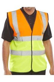EN471 Class 2 Two Tone Vests Orange/Yellow (3XL)