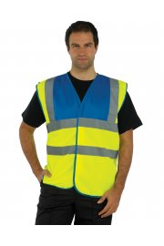 HVW102 Hi Vis Two Tone Vests (Medium To 3XL)