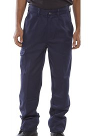PCT9N Click Navy Heavyweight 9oz Polycotton Work Wear Trouser