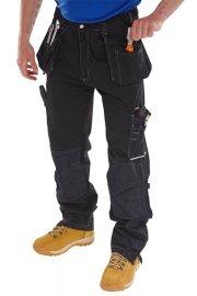SMPTBL Click Black Shawbury Premium Multi Pocket Trouser