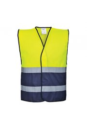 C484 Two Tone Hi Vis Vests (Small to 3XL)