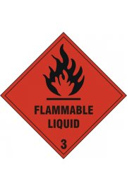 BSS1858S Flammable Liquid Sign Vinyle Version