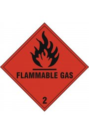 BSS1859S Flammable Gas Sign Vinyl Version