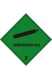 BSS1869S Compressed Gas Sign Vinyl Version