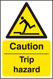 BSS11053 Caution Trip Hazard Sign Vinyl Version