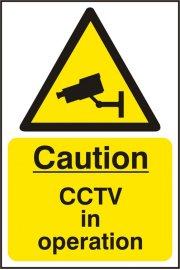 BSS11215 Caution CCTV In Operation Sign Vinyl Version