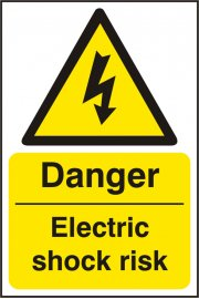 BSS11013 Danger Electric Shock Risk Sign Vinyl Version