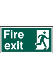 BSS12129 Fire Exit Sign PVC Version
