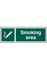 BSS11904 Smoking Area Sign PVC Version