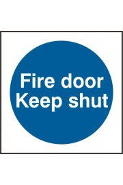 BSS11324 Fire Door Keep Shut Sign Vinyl Version