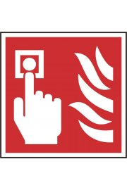 BSS11690 Fire Alarm Call Point Sign Vinyl Version