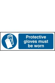 BSS11393 Protective Gloves Must Be Worn Sign PVC Version