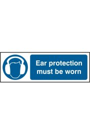 BSS11405 Ear Protection Must Be Worn Sign PVC Version