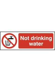 BSS11676 Not Drinking Water Sign Vinyl Version