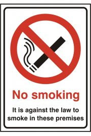BSS1185 No Smoking Sign PVC Version