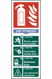 BSS12304 Fire Extinguisher Guide Sign Dry Powder Sign