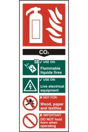 BSS12310 Fire Extinguisher Guide Sign CO2 Sign Vinyl Version