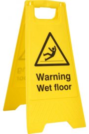 BSS4702 Pre-Printed A Board 'Warning Wet Floor Sign'