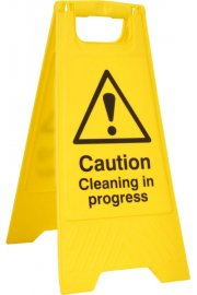 BSS4703 Pre-Printed A Board 'Caution Cleaning In Progress'