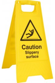 BSS4704 Pre-Printed A Board 'Caution Slippery Surface'