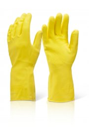 Click House Hold Rubber Glove Heavy Weight (Pack size 10 Pairs)
