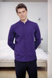KK161 Mandarin Collar Fitted Long Sleeved Shirt  (S To 2XL)