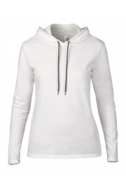AV182 Womens Fashion Basic Long Sleeed Hooded T-Shirt (small To 2XL)