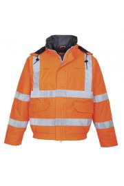 Bizflame Flame Retardant Anti Static Hi Vis Bomber Jacket (Small To 5XL)