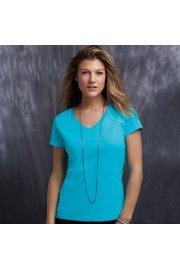 AV183 Womens Fashion Basic V-Neck T-Shirt (Small To 2XL)