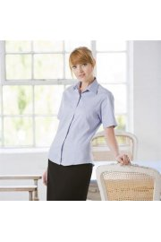 HB556 Womens Short Sleeved LightWeight Oxford Shirt (XSmall To 3XL)