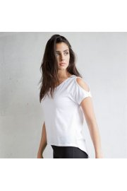 SK233 Womens T-Shirt With Drop Detail (Small To 2XL)