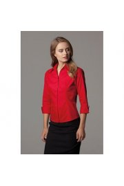 KK710 Womens Corporate Oxford 3/4 Sleeved Blouse (Size 8 to Size 20)