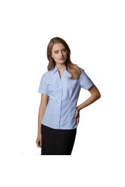KK713 Womens Pinstripe Short Sleeved Shirt (Size 8 To Size 22)