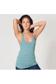 AA046 Womens Tri-Blend RacerBack Tank (XSmall To Large)