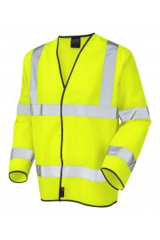 S01-Y Shirwell Yellow Hi Vis Long Sleeved Vests (Small To 6XL)