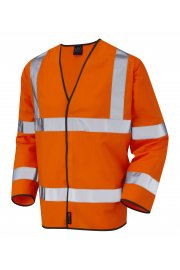 S01-O Shirwell Orange Hi Vis Long Sleeved Vests (Small To 6XL)