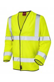 S07-Y Mullacott Flame Retardent Yellow Hi Vis Long Sleeved Vests (Small to 4XL)
