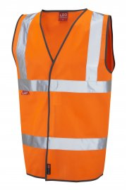 W06-O Dolton Flame Retardent Orange Hi Vis Vests (Small To 5XL)