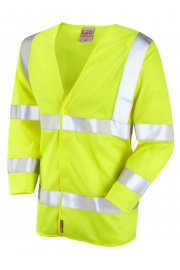 S10-Y Cranford Yellow Flame Retardent 3/4 Sleeve Hi Vis Vests (Small To 6XL)