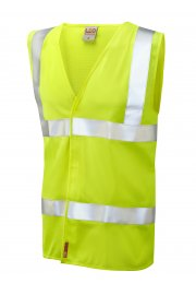 W08-Y Milford Yellow Flame Retardent Hi Vis Vests (Small To 6XL)
